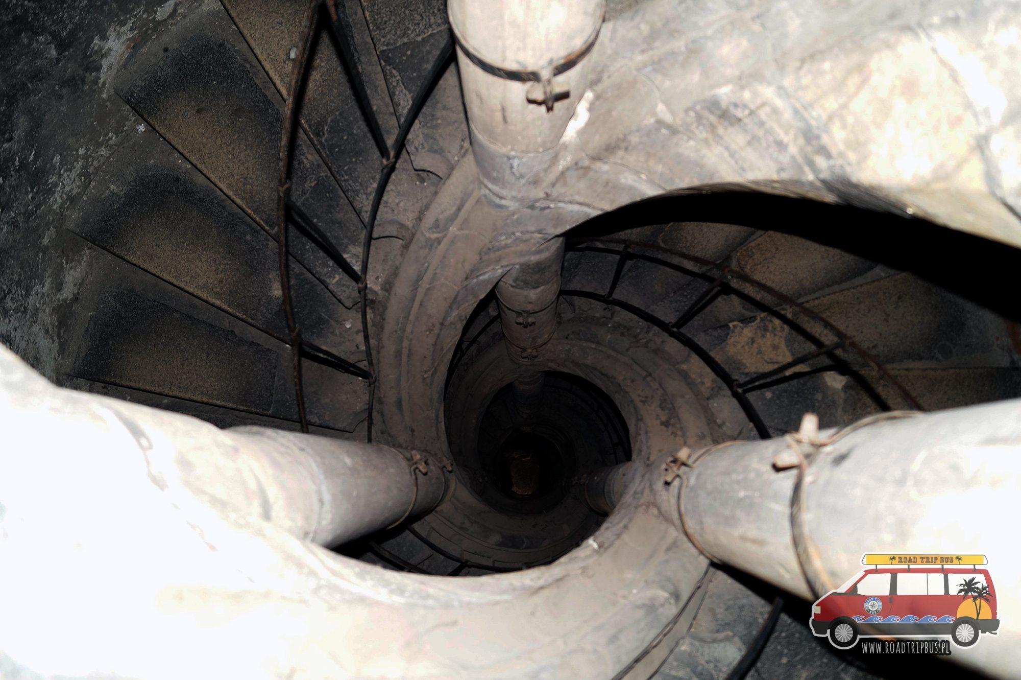 schody na wieże widokową i dzwonnicę przy kościele św. Marcina