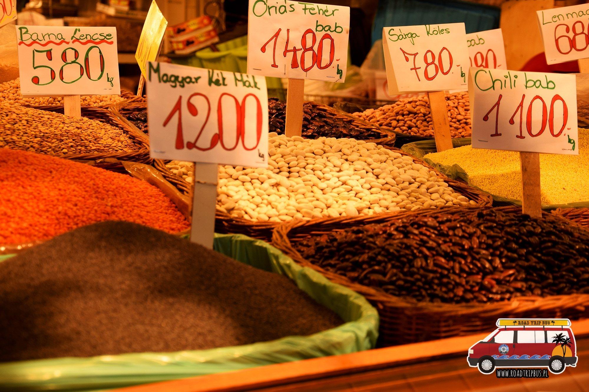 Ceny w Centralnej Hali Targowej w Budapeszcie