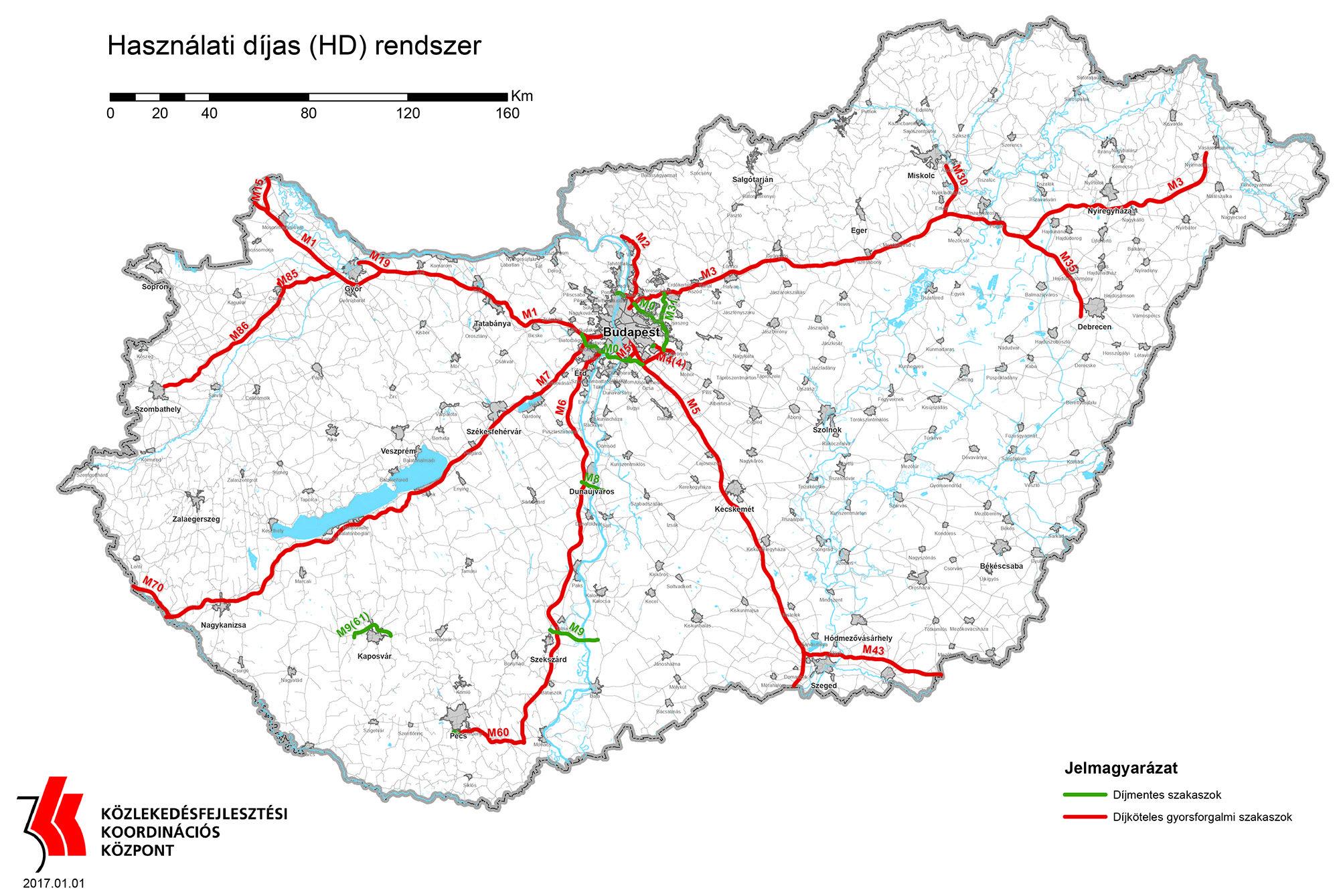 wegry mapa platnych drog