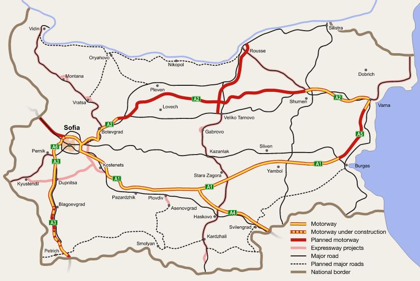 autostrady Bułgaria