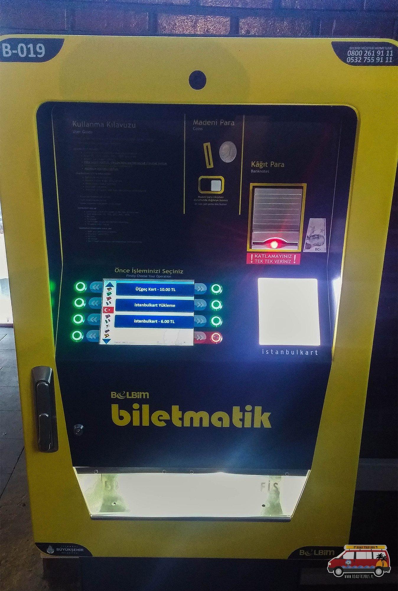 Istanbulkart automat