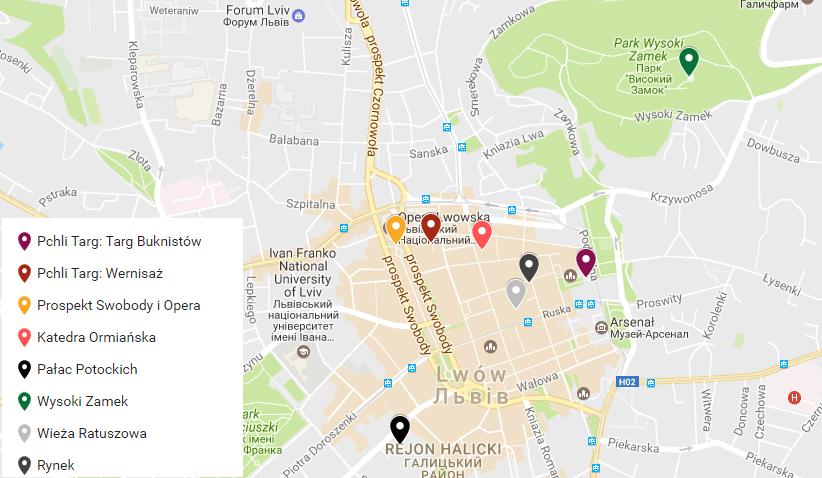 mapa lwow