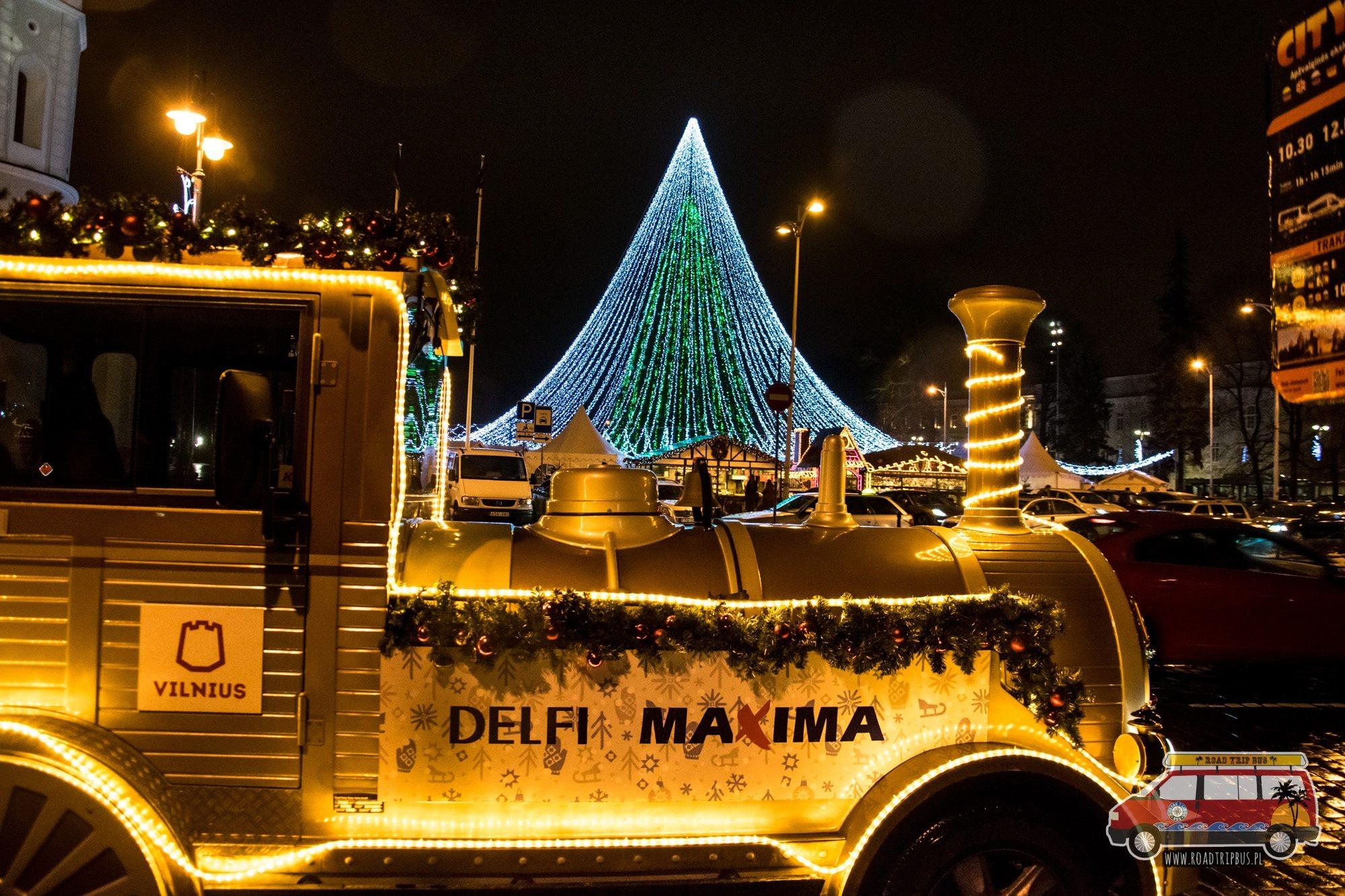świąteczna lokomotywa wilno
