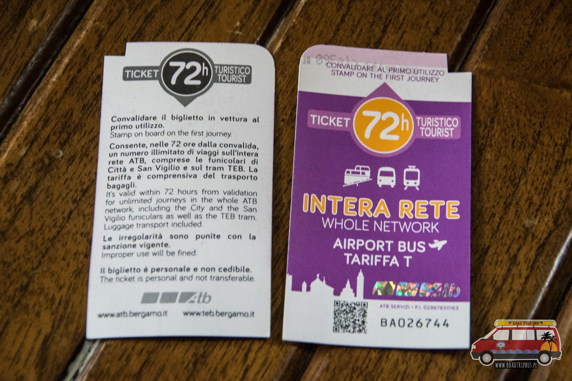 bilety komunikacja bergamo