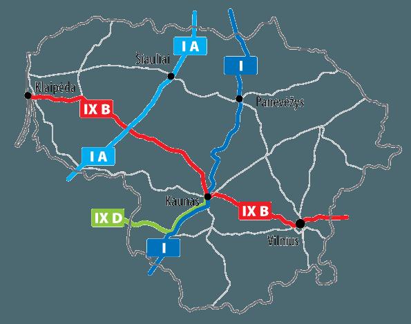 autostrady na litwie