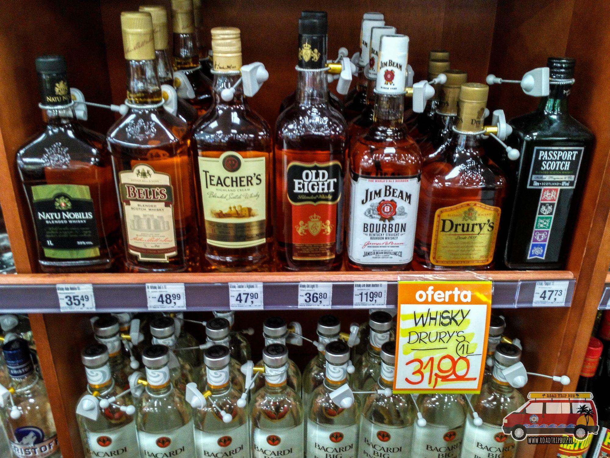 ceny alkoholu w brazylii