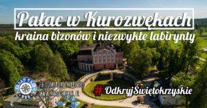 Pałac w Kurozwękach – kraina bizonów i niezwykłe labirynty z kukurydzy i konopi