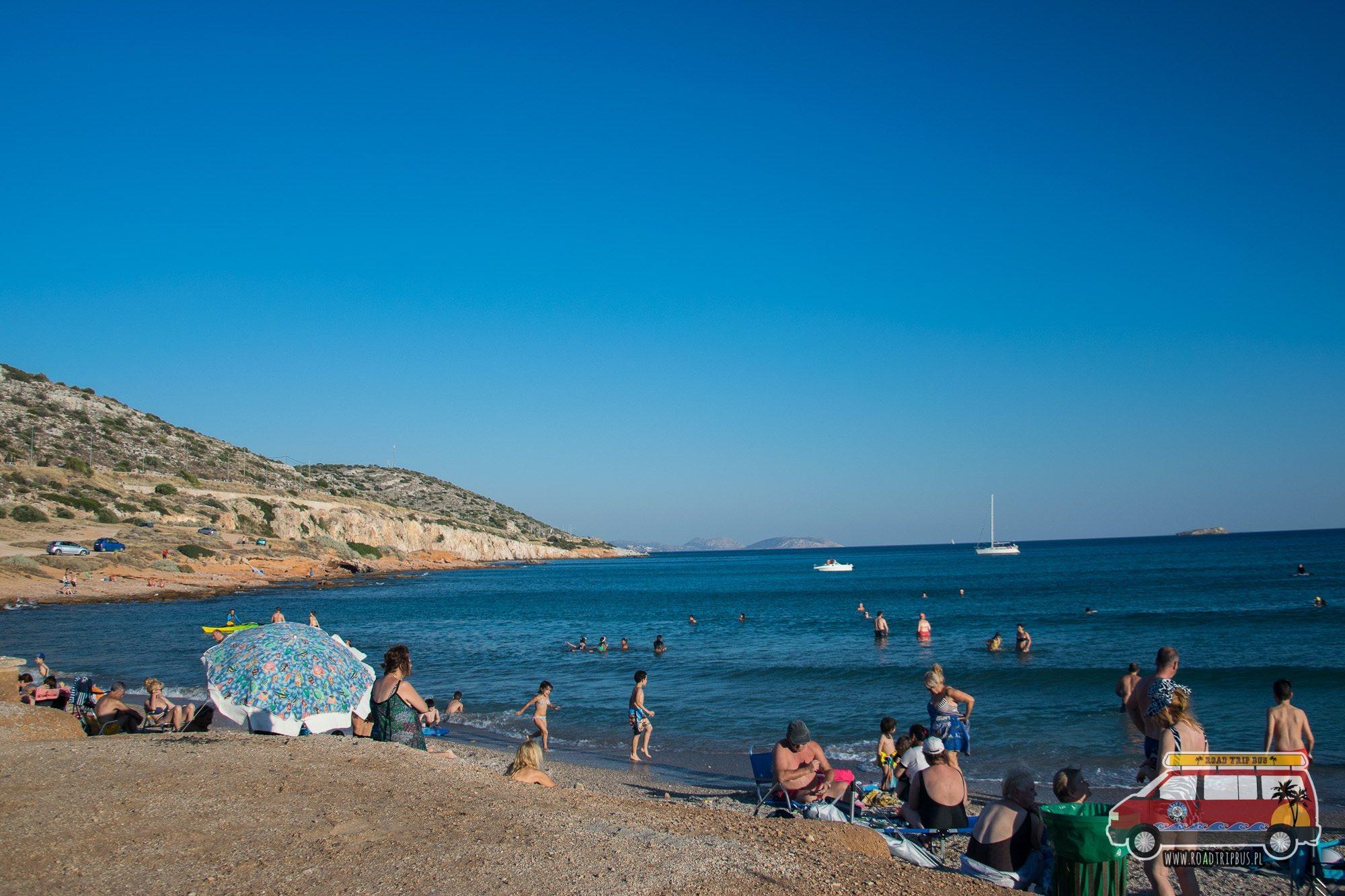 ateny plaża nocleg