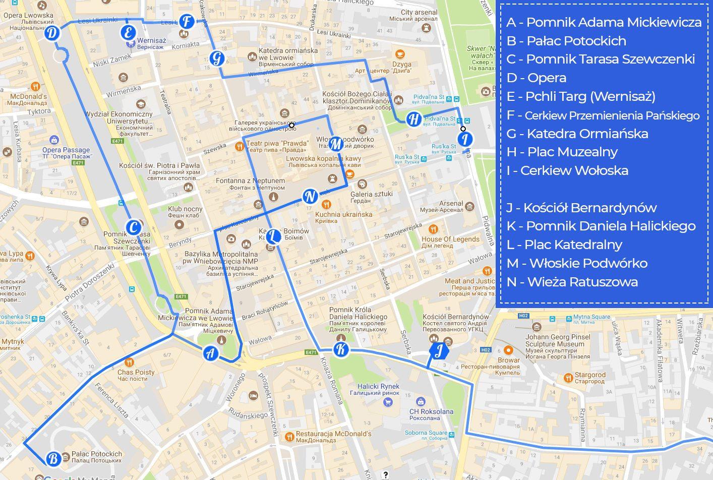 trasa zwiedzania Lwów w jeden dzień
