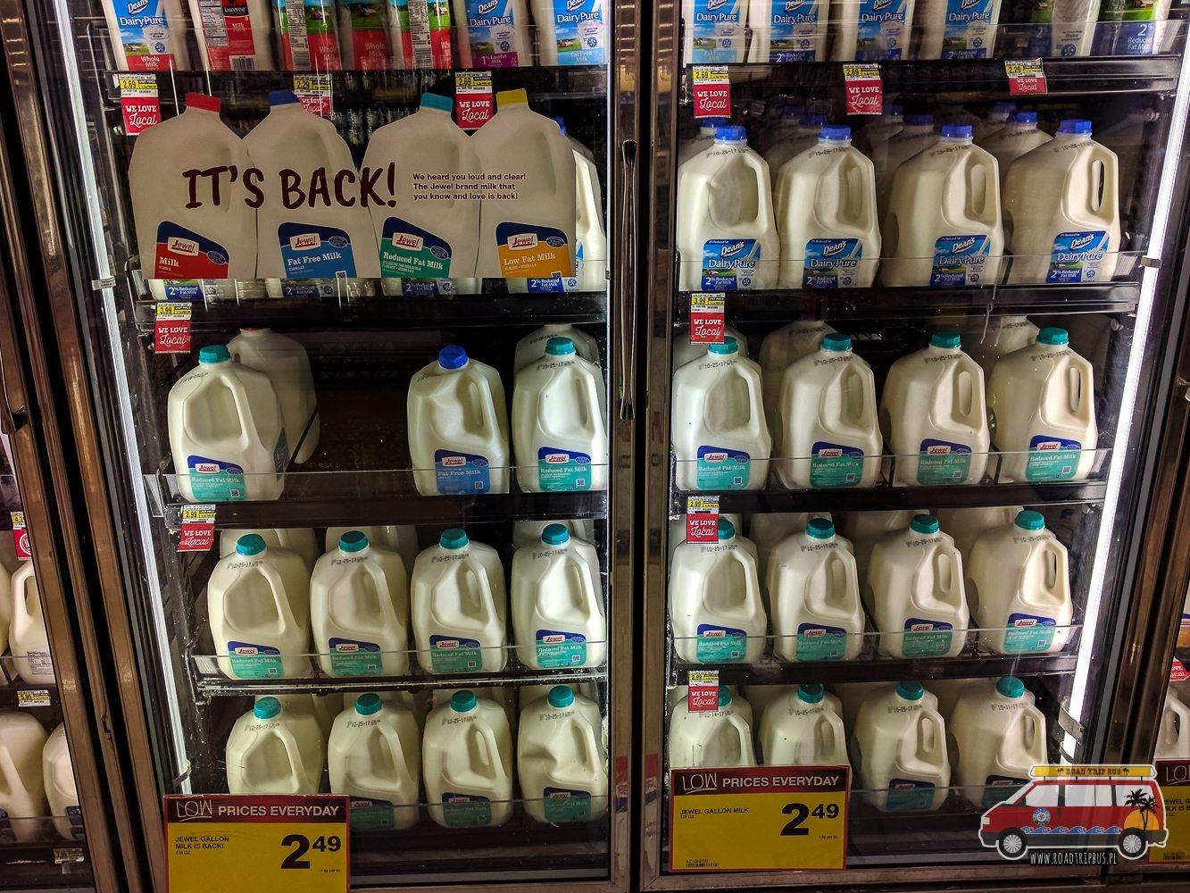 ceny mleka w USA