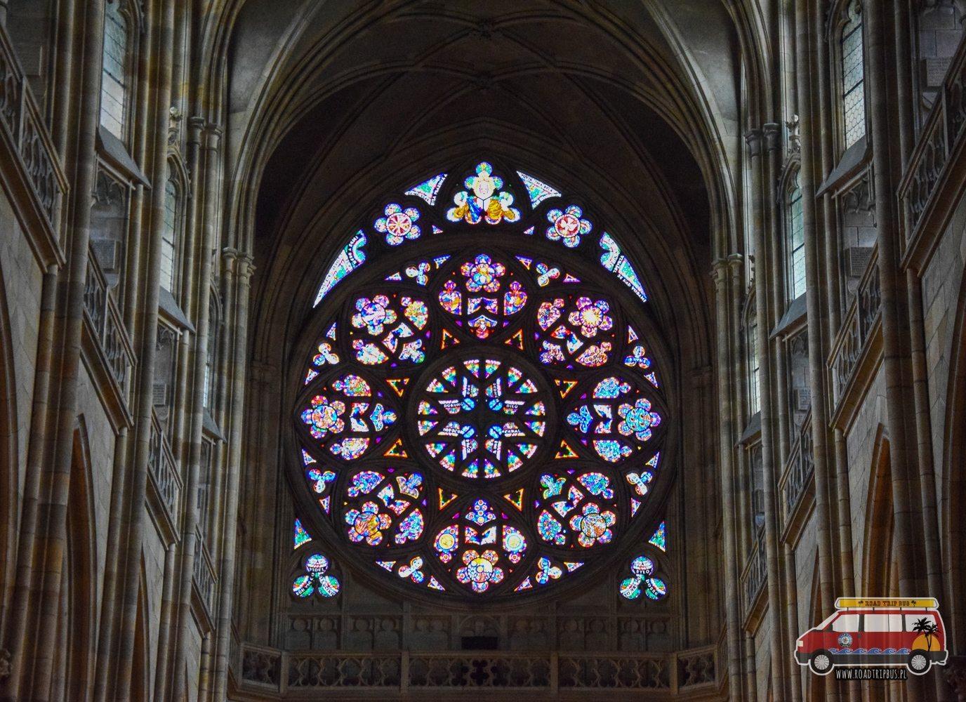 rozeta w Katedrze św. Wita w Pradze