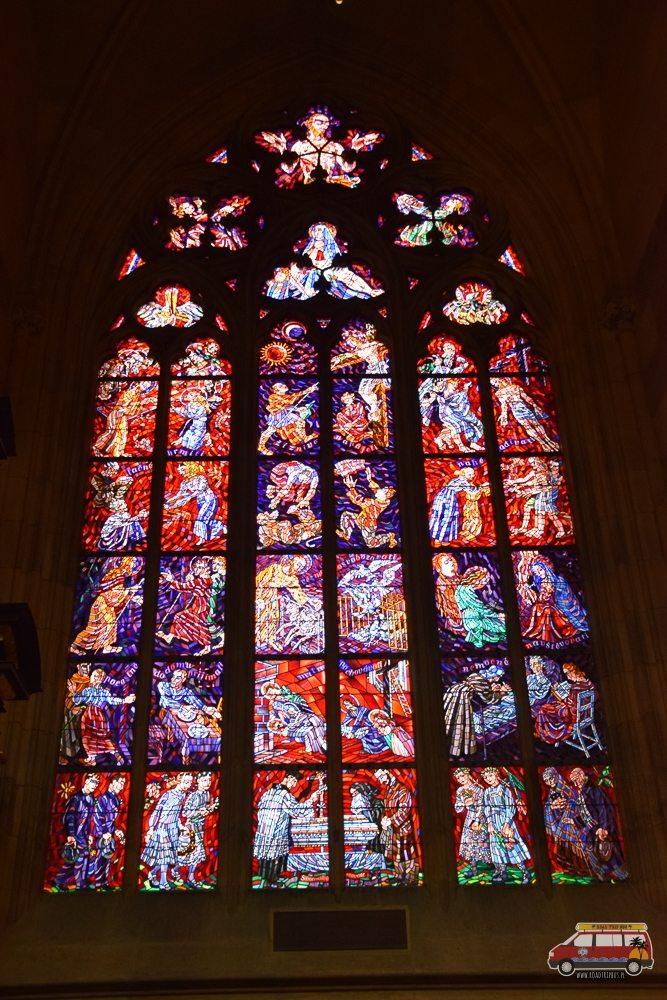 witraż w Katedrze św. Wita w Pradze