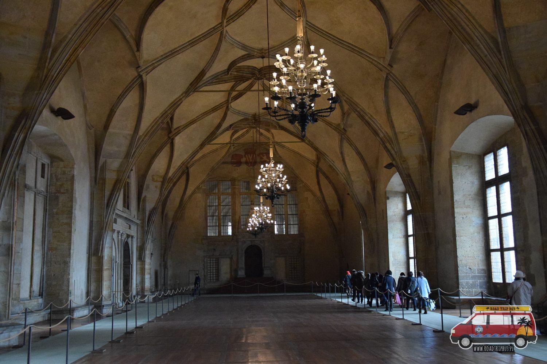 wnetrze zamku praskiego