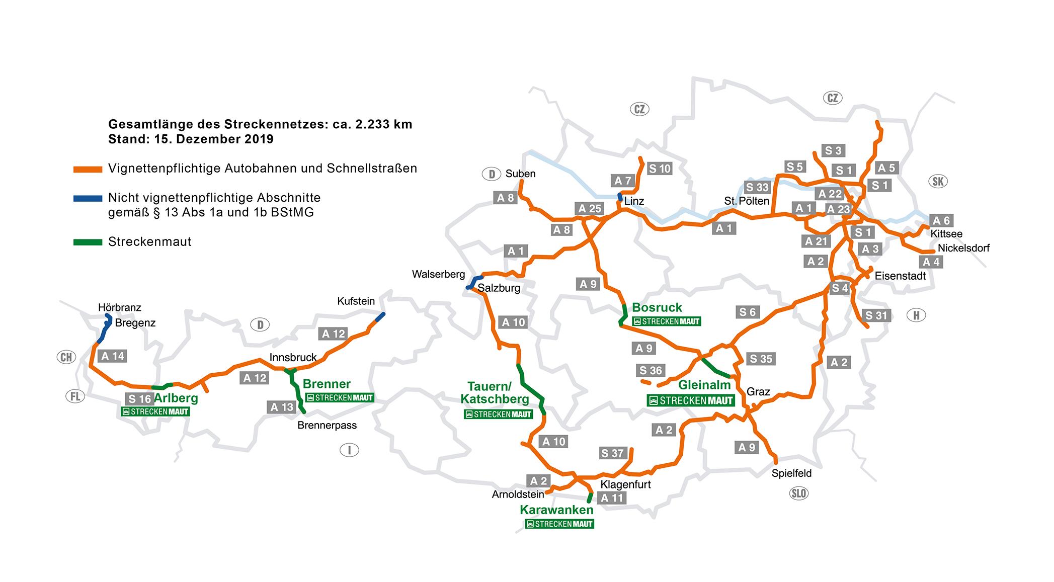 płatne drogi Austria