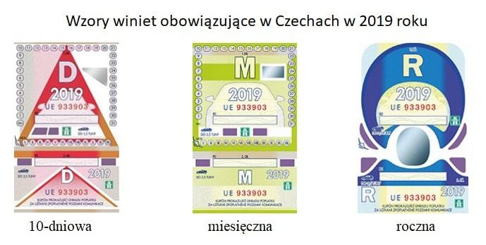wzory winiet w Czechach w 2019