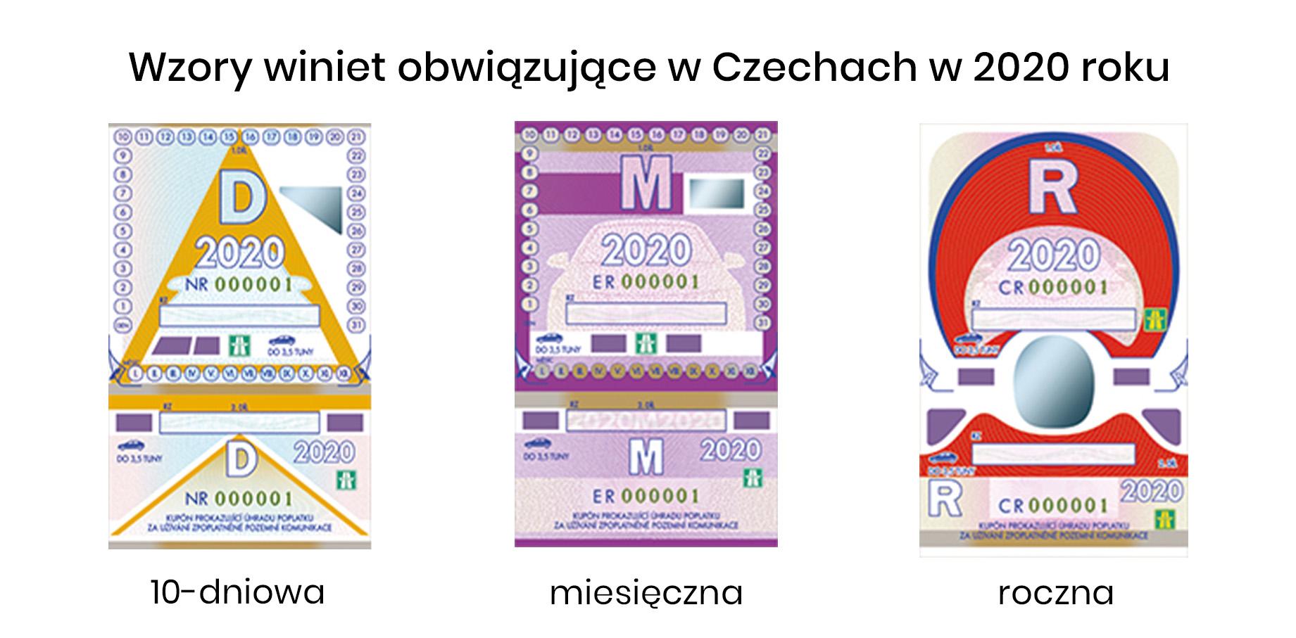 wzory winiet w Czechach w 2020