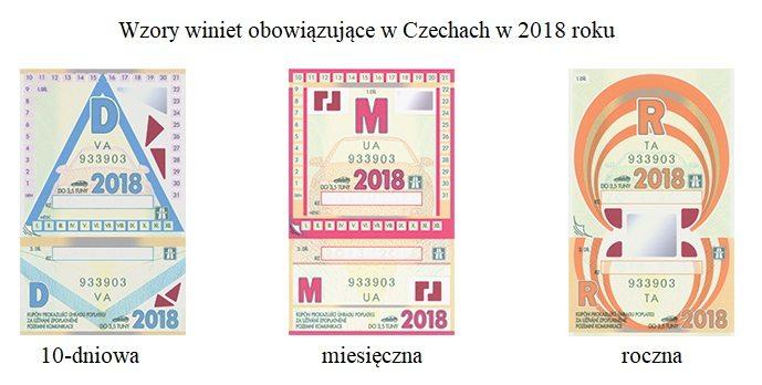 wzory winiet w Czechach w 2018