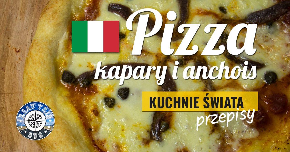 pizza kapary i anchois przepis