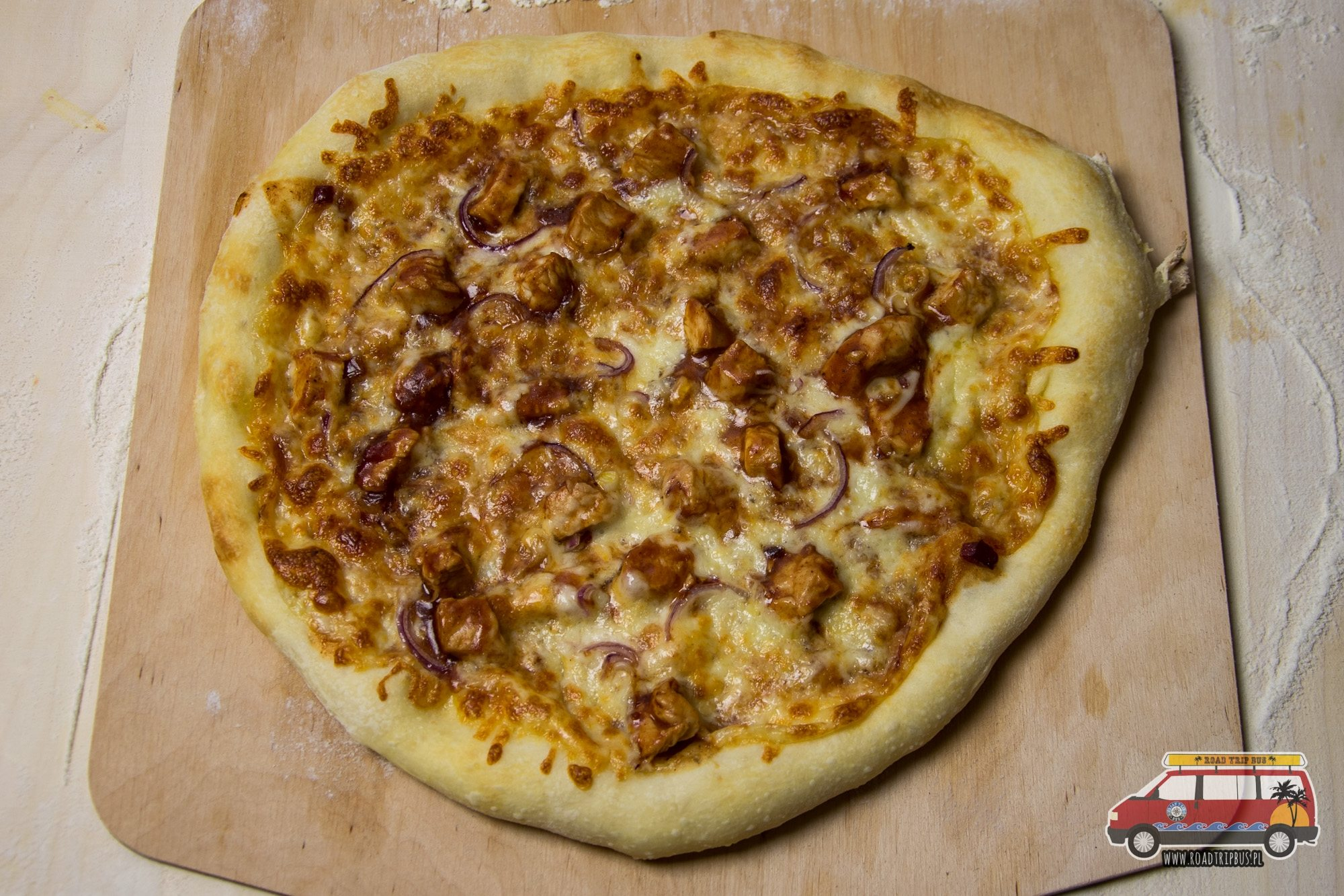 pizza kurczak barbecue