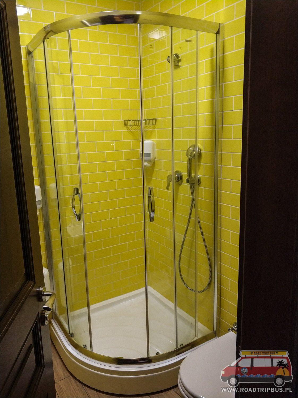 prysznic w prywatnej łazience