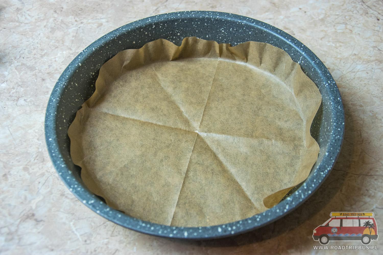 forma z papierem do pieczenia