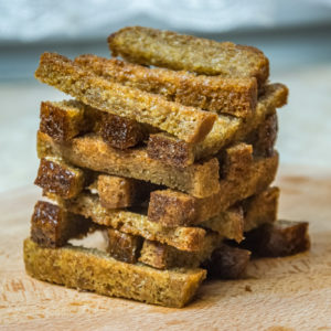 smażony chleb z czosnkiem przepis