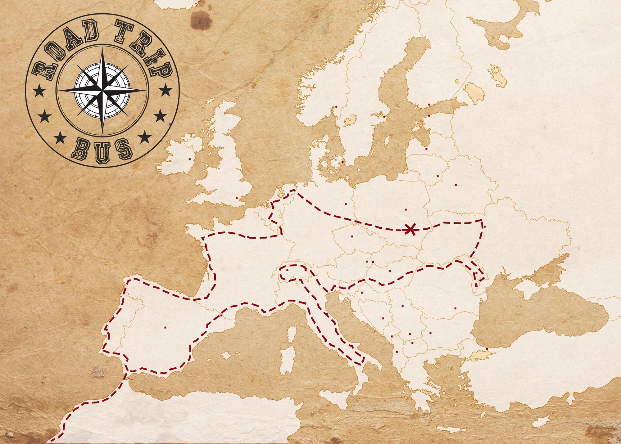 eurotrip mapa