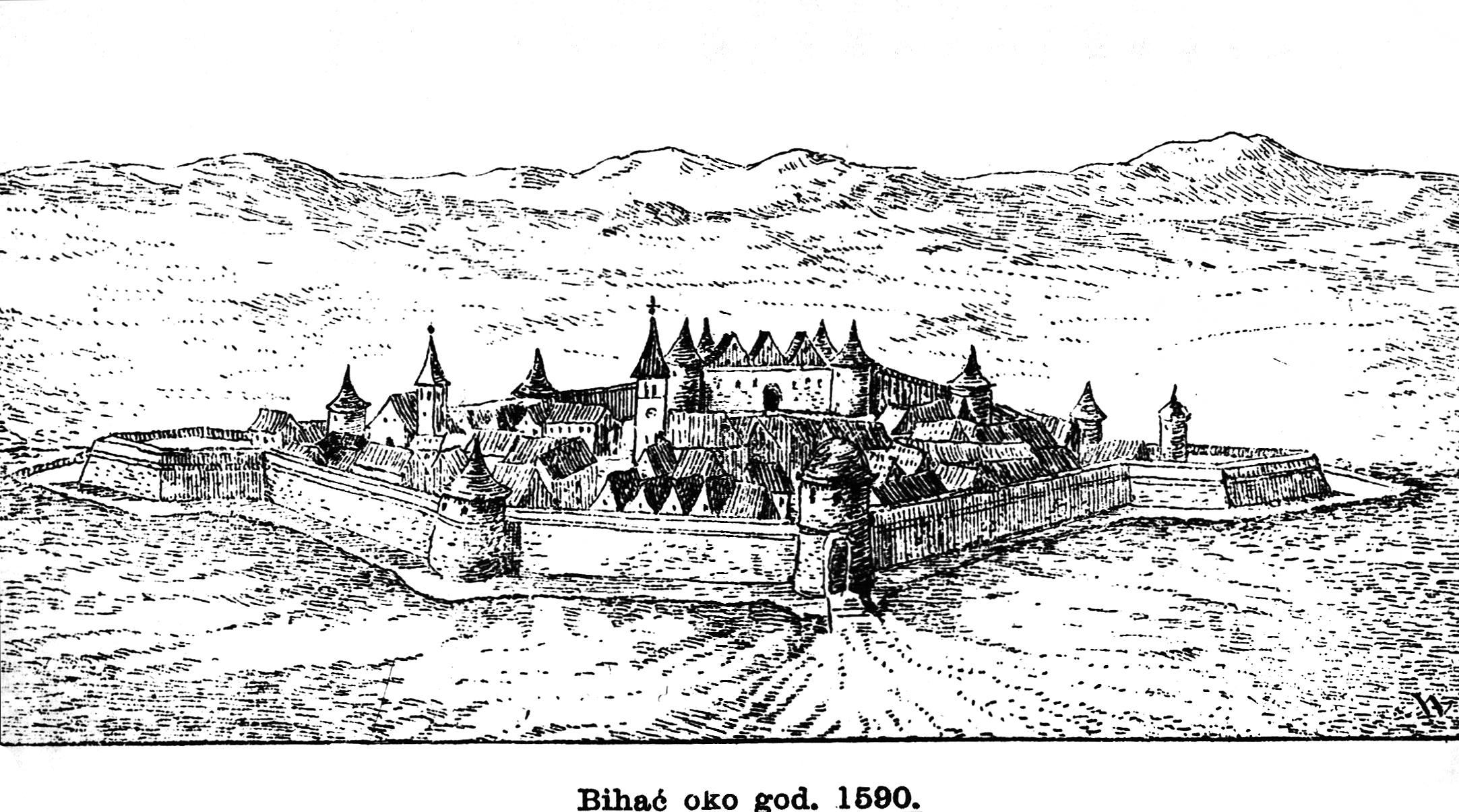 Bihać w 1590 roku