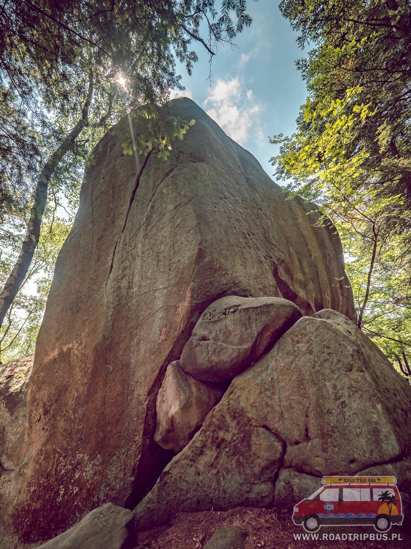 skały w rezerwacie prządki
