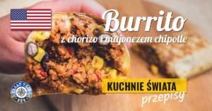 Burrito z chorizo i majonezem chipotle