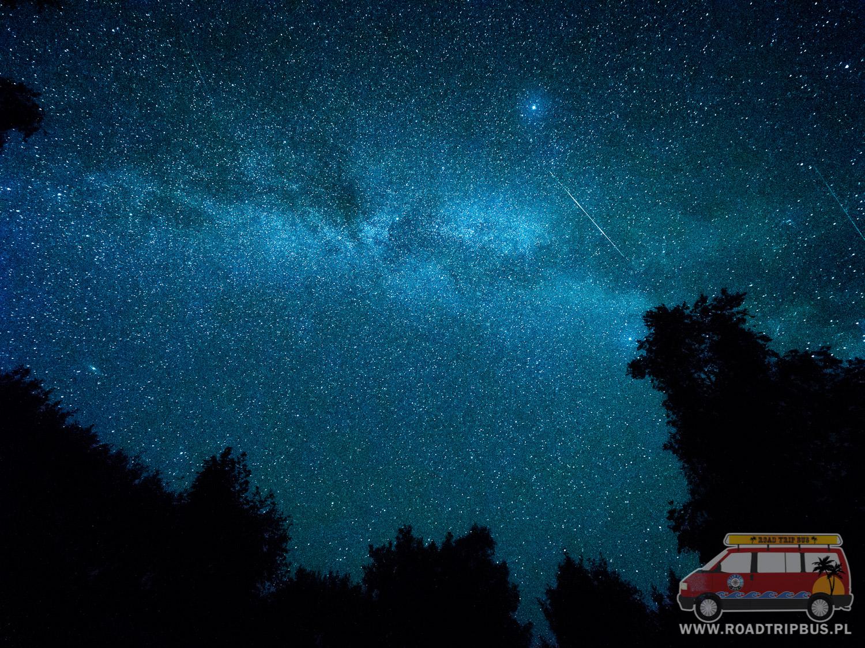 droga mleczna w parku gwiezdnego nieba