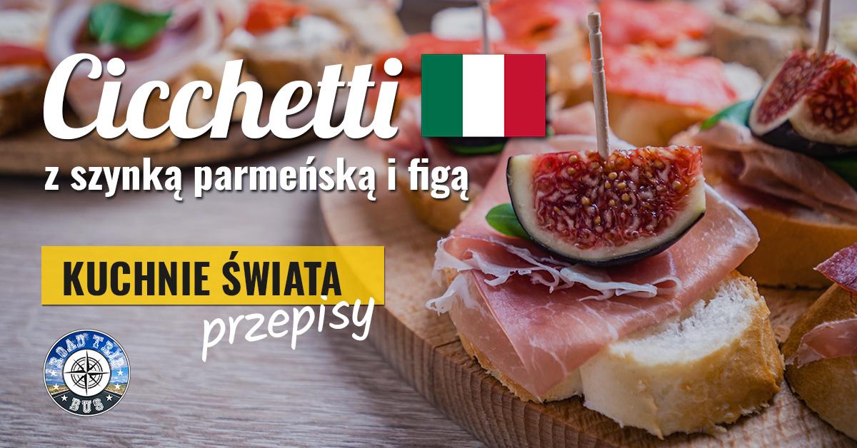cicchetti z szynką parmeńską i figą