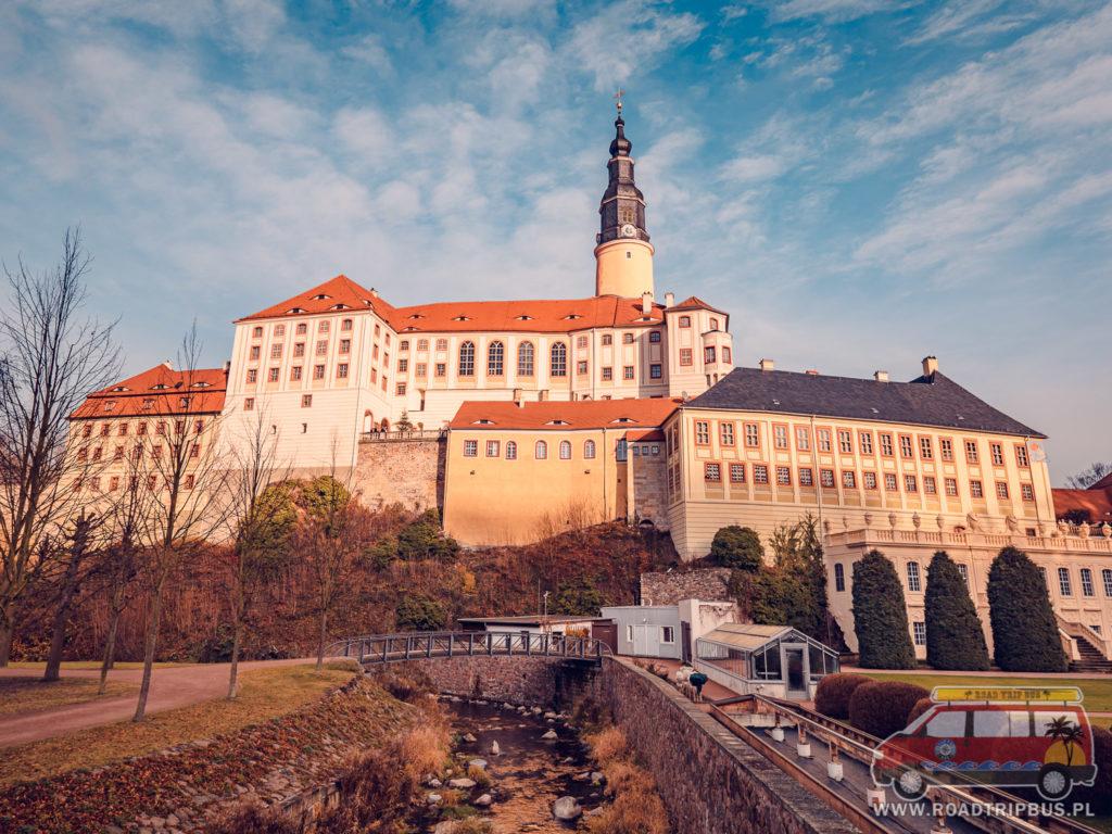 Pałac Weesenstein widziany od strony ogrodów
