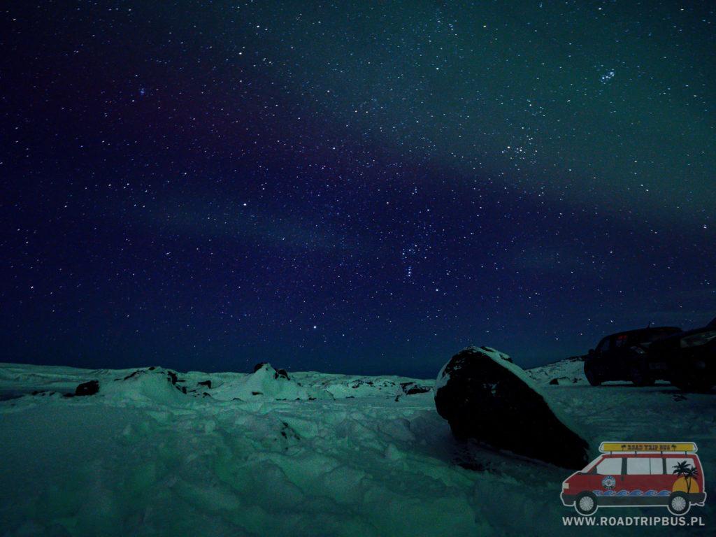 gwiazdy nad Islandią