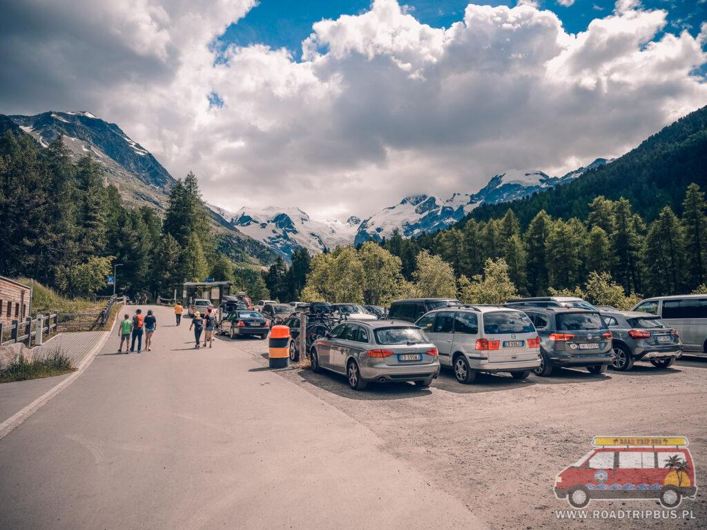 parking przy lodowcu Morteratsc