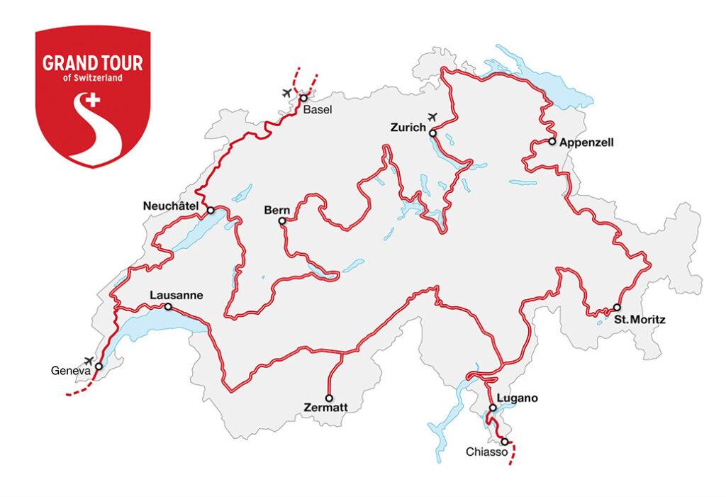 mapa grand tour of switzerland