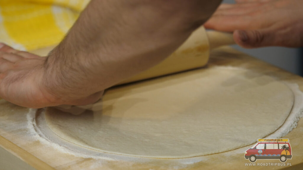 rozwałkowane ciasto
