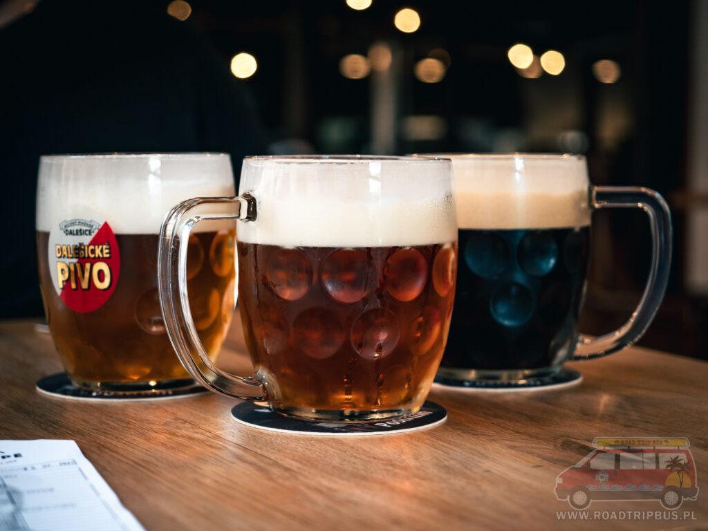 piwo w barze w Brnie