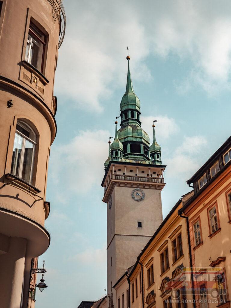 wieża widokowa starego ratusza w Brnie