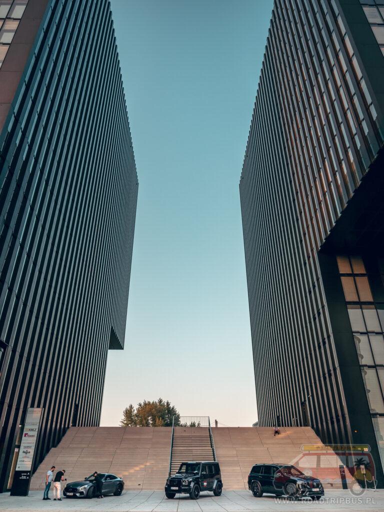 budynek hyatt regency hotelu w Düsseldorfie