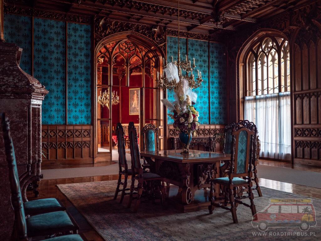 sala turkusowa Pałacu w Lednicach