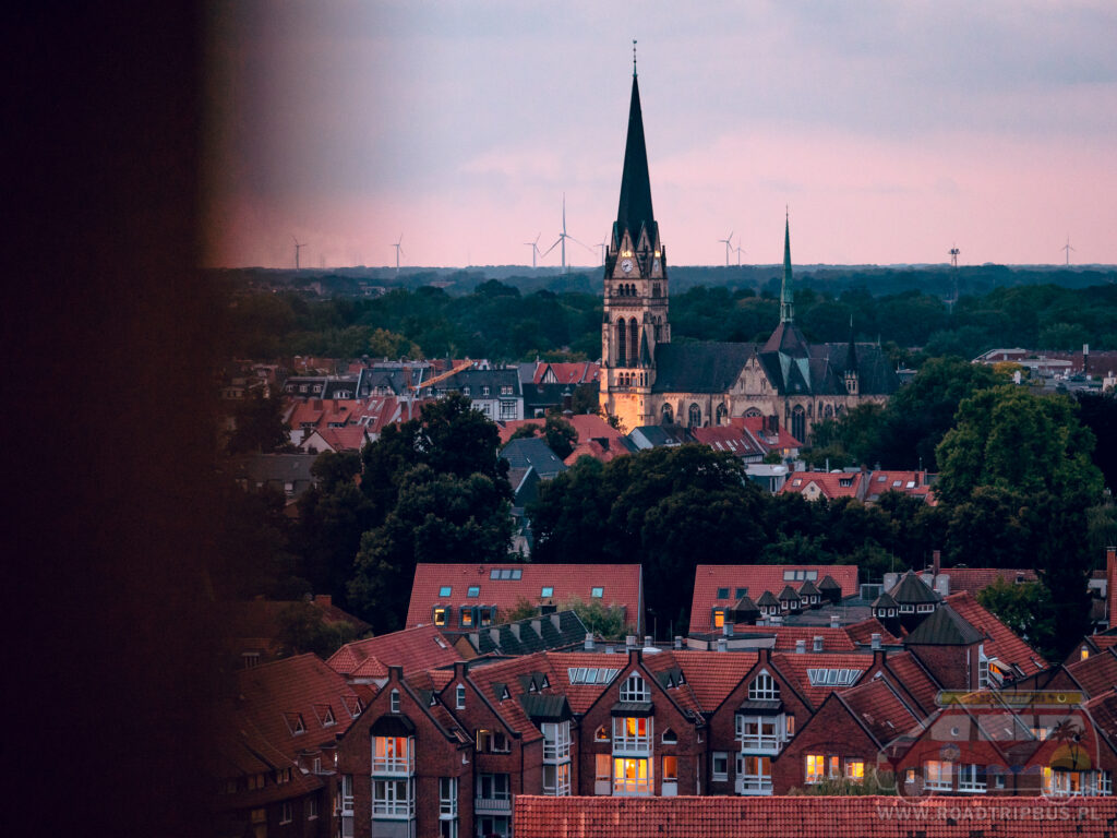 widok z wieży kościoła św. Lamberta